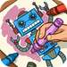 Robot Factory Coloring Pages for Kids